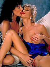 Jeanna Fine's Brunette beauty meets Danielle Rogers' blonde bombshell and legs, legs, legs for miles!!!