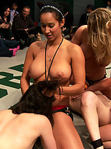 Sexual Wrestling 5 girl orgy from the depths of hellLosers skull fucked, brutally fisted, humiliated to the max